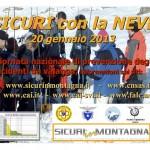 SICURI con la NEVE 2013  locandina